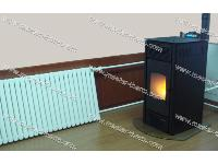 Pellet stoves (Air and boiler heating)
